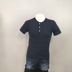 Men's Gap Button T-Shirt Blue